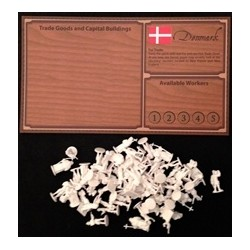 EMPIRES: AGE OF DISCOVERY - DENMARK PLAYER BOARD AND WHITE FIGURES (Inglés)
